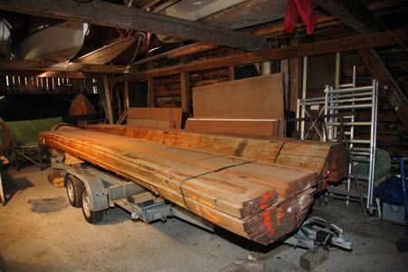 Holz wird eingelagert