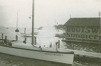 Simmerding Bootshütte an der Seepromenade