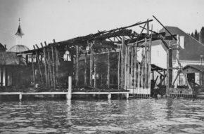 Simmerding Werft nach dem Brand