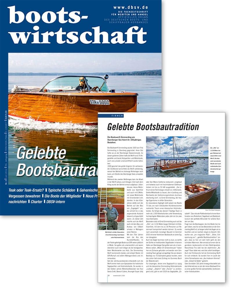 Artikel in der Bootswirtschaft 01/2020