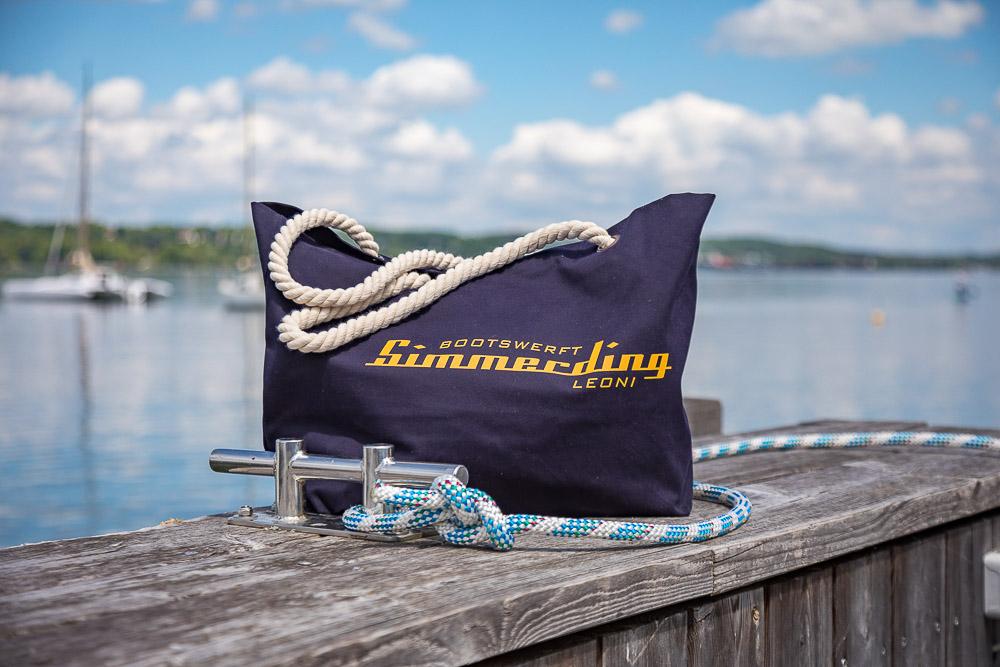 Simmerding Kollektion Beach Bag navy